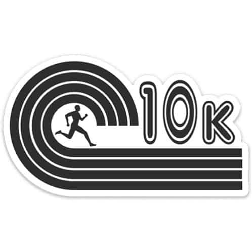 10k Running Sticker, 10k runner sticker on light background