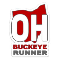 Buckeye Running Sticker, Buckeye Runner Sticker on light background