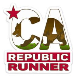 California Running Sticker, California Runner Sticker on light background