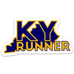 Kentucky Running Sticker, Kentucky Runner Sticker on light background